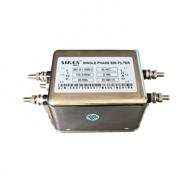 High Performance Single Phases EMC-EMI filter 6A